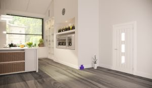 Ely interior white door