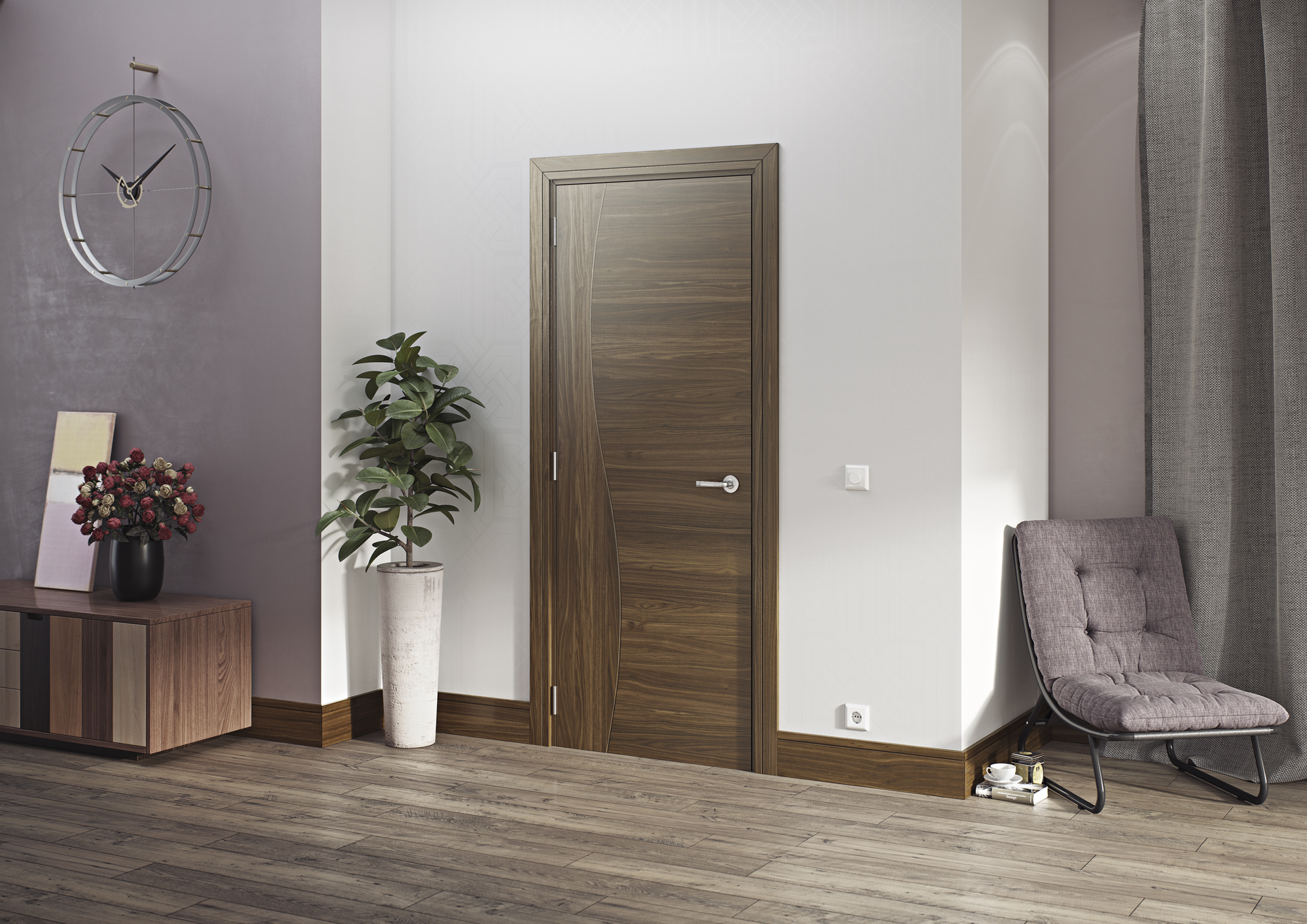 Cadiz Walnut interior door
