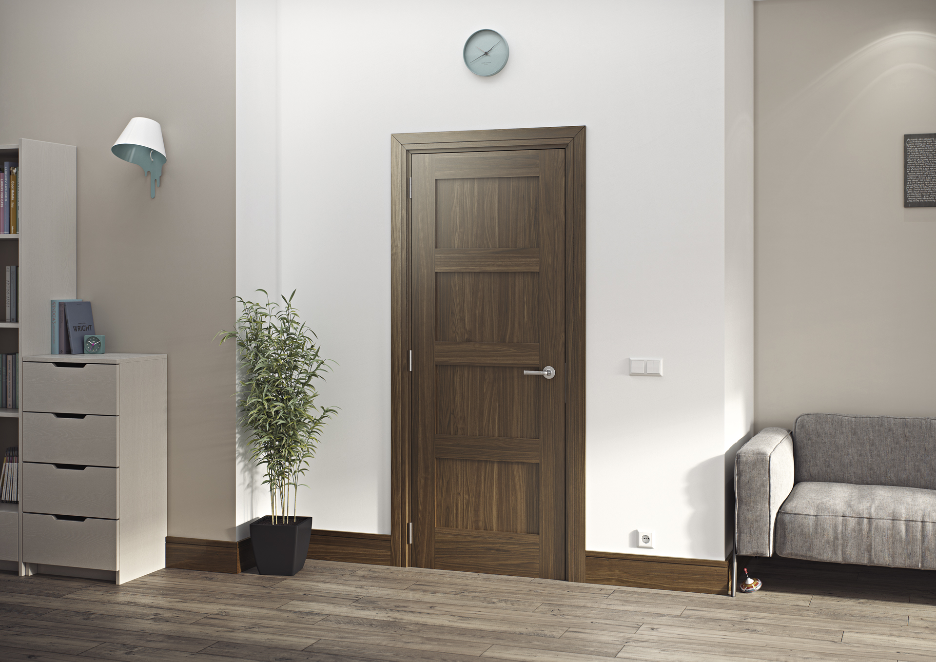 Coventry Walnut interior door & Choosing the Right Doors for your Home | Deanta