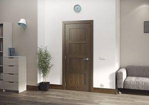 coventry walnut internal door in situ