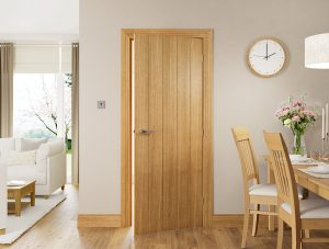 galway oak internal door in situ