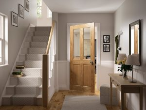 glazed oak internal door in situ