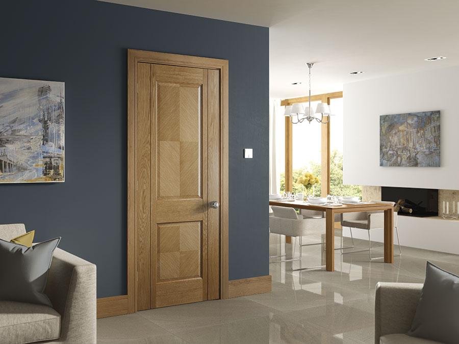 kensington oak internal door in situ