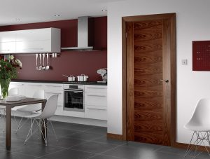 seville walnut internal door in situ