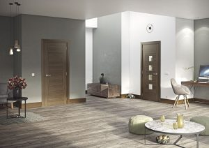pamplona walnut internal door in situ