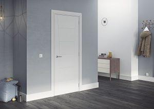 pamplona white primed internal door in situ