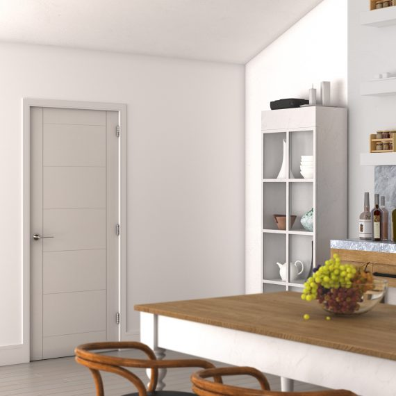 Seville white primed interior door