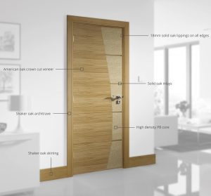large breakdown oak door