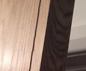 oak veneer fault