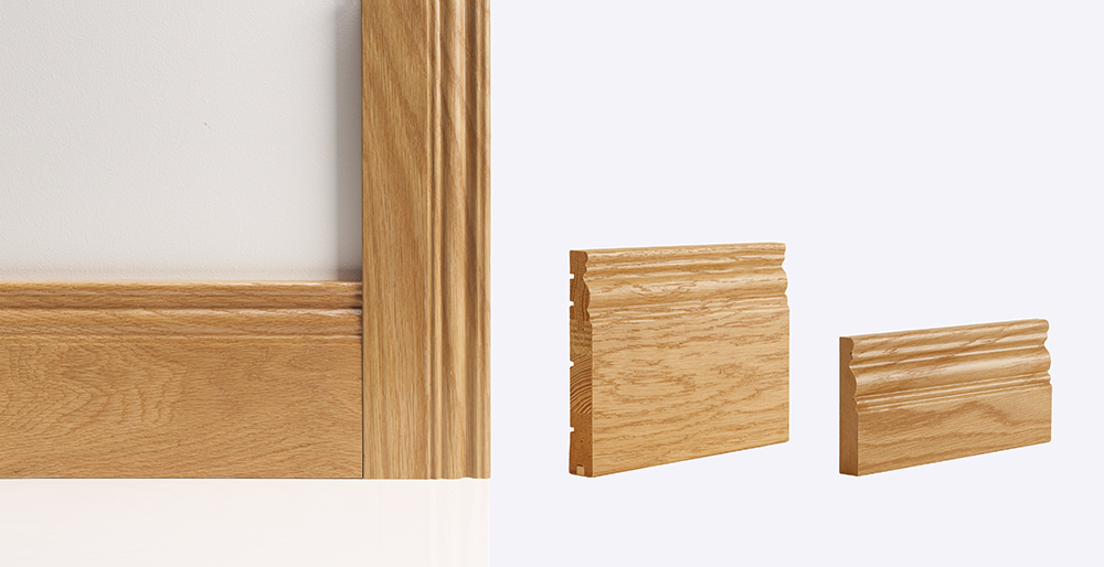 georgian oak skirting architrave