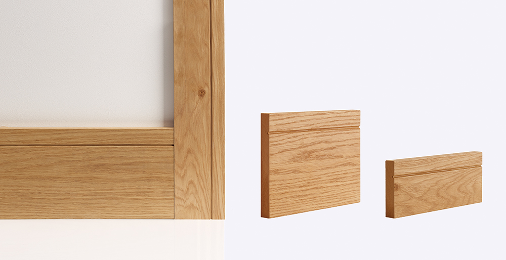 shaker oak skirting architrave
