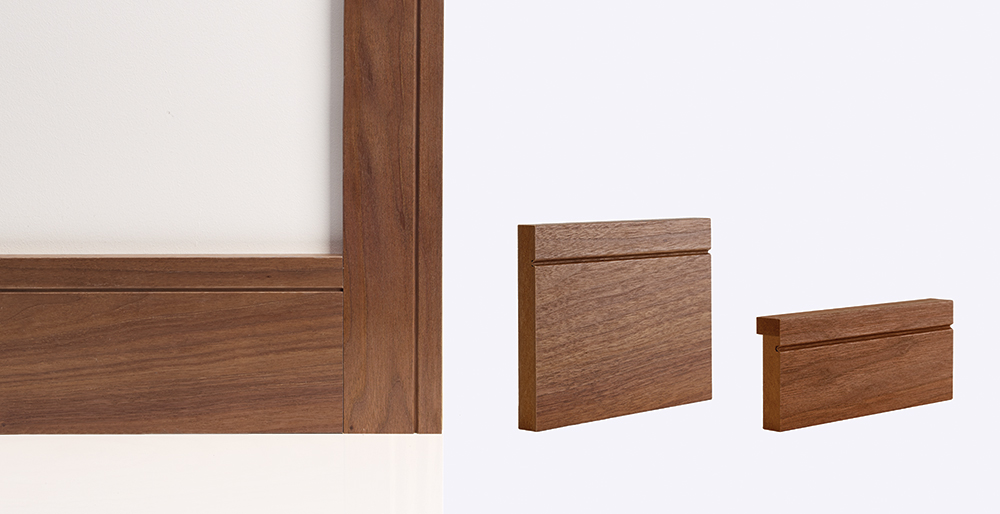 shaker walnut skirting architrave