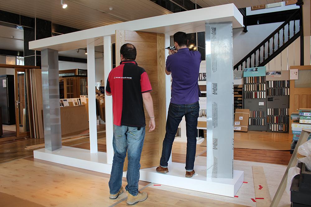 Deanta-Door-Stand-Construction & New Door Display - First Rollout | Deanta