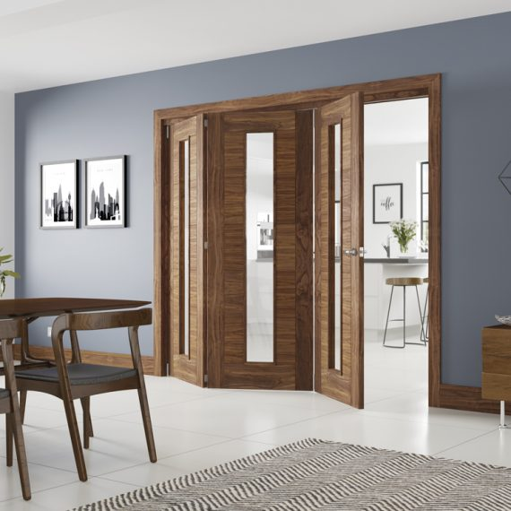 folding walnut doors