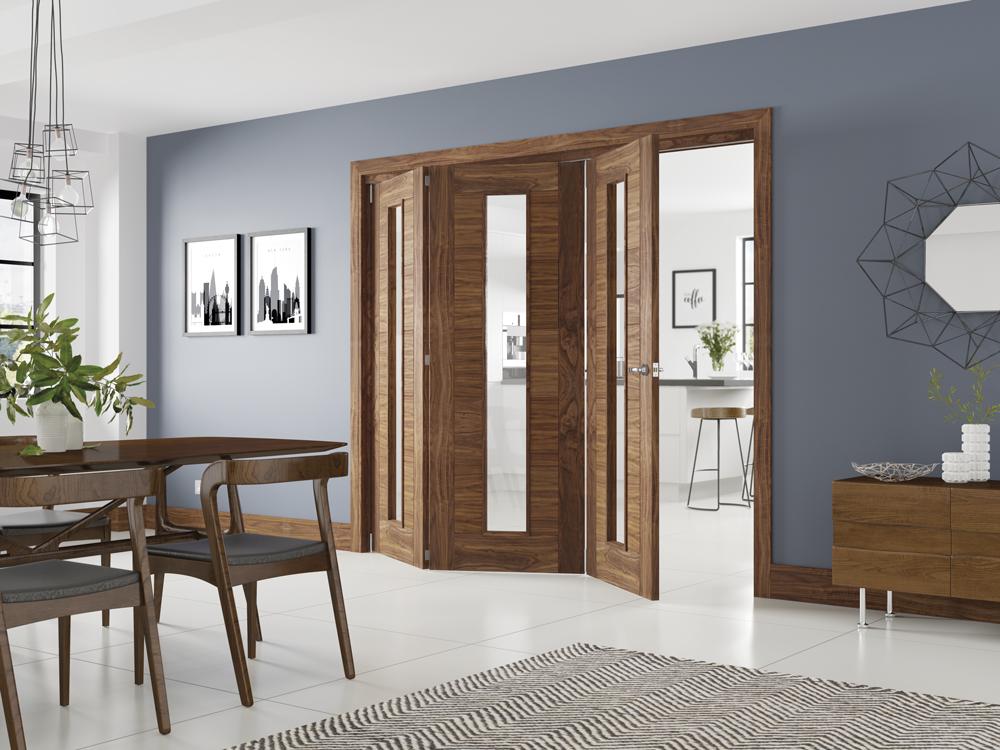 folding walnut doors