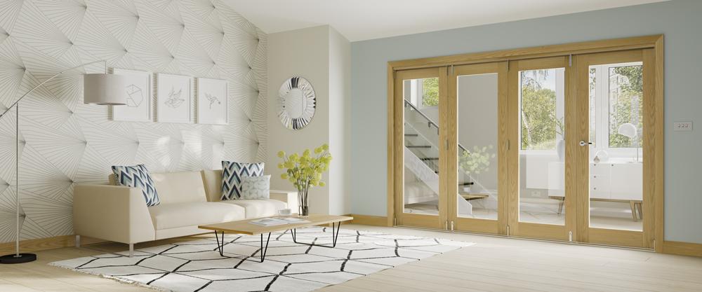 folding oak doors