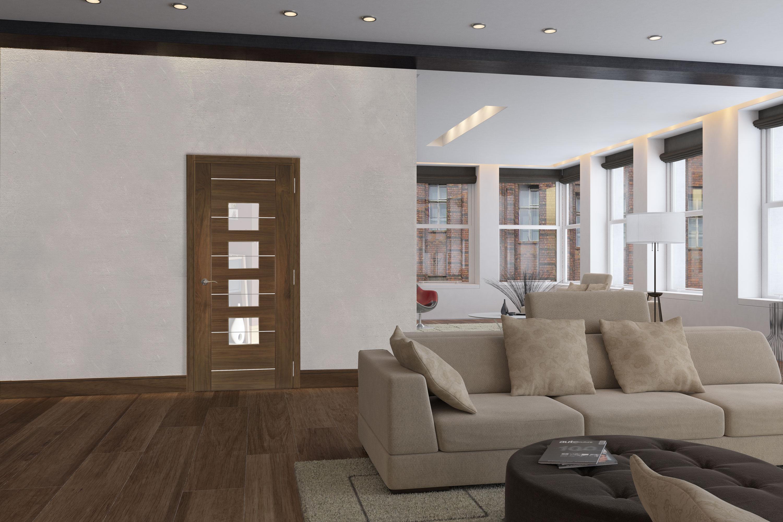 Valencia walnut interior door
