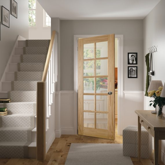 Bristol glazed interior oak door