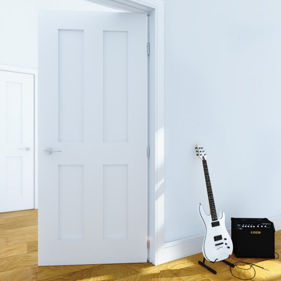 Eton white primed interior door