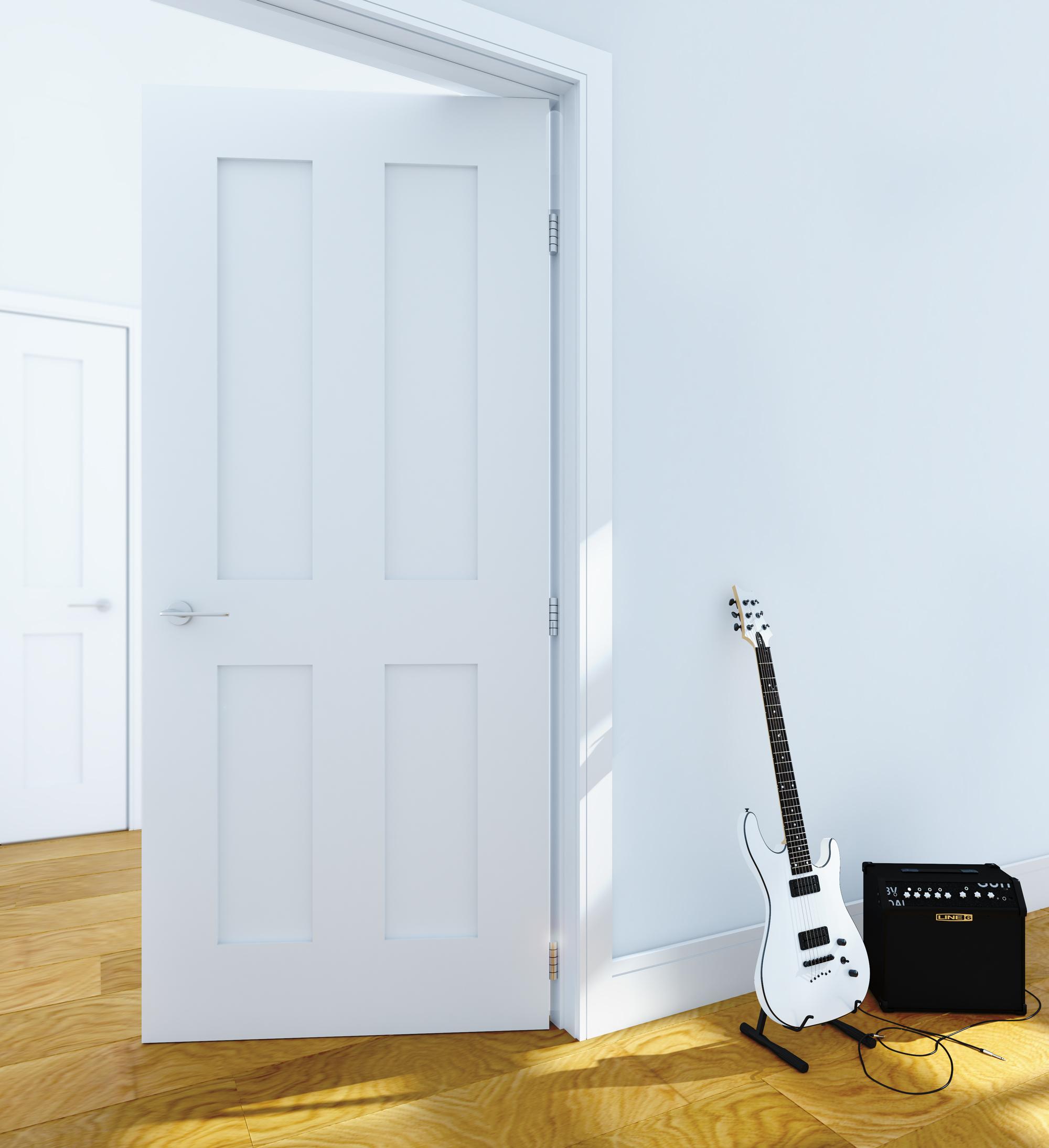 Eton white primed interior door