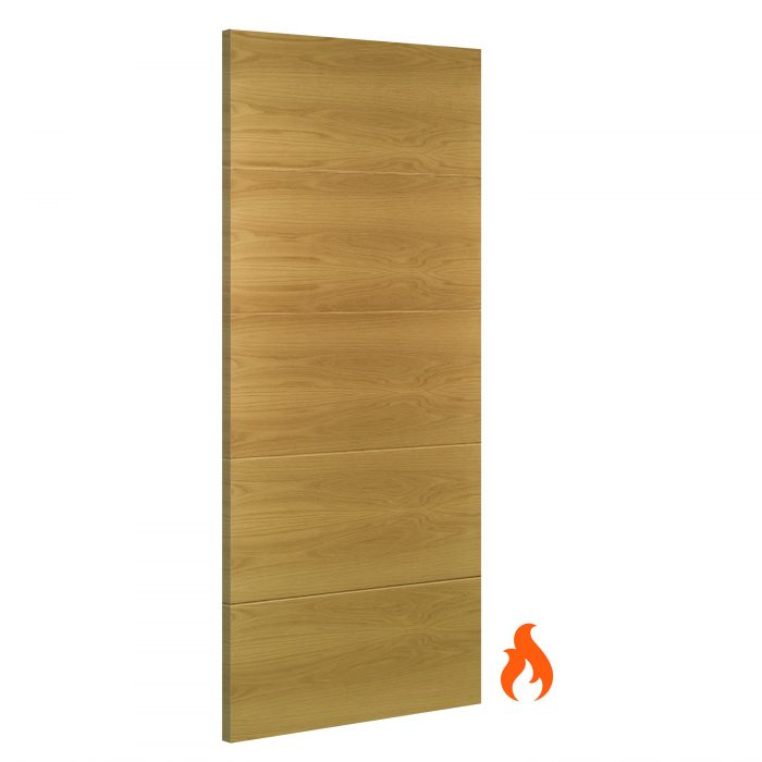 Augusta interior oak fire door