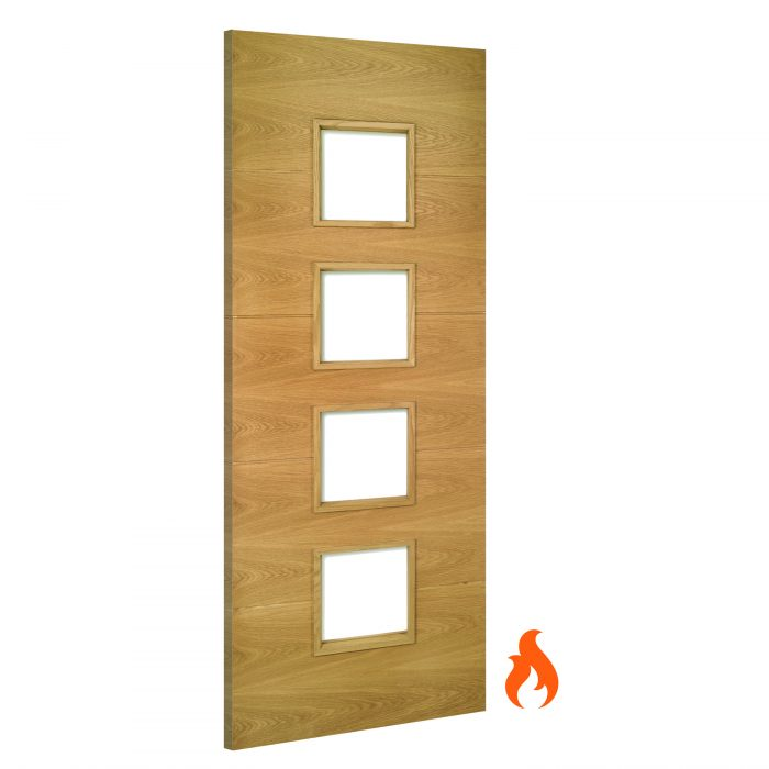 Augusta Glazed interior oak fire door