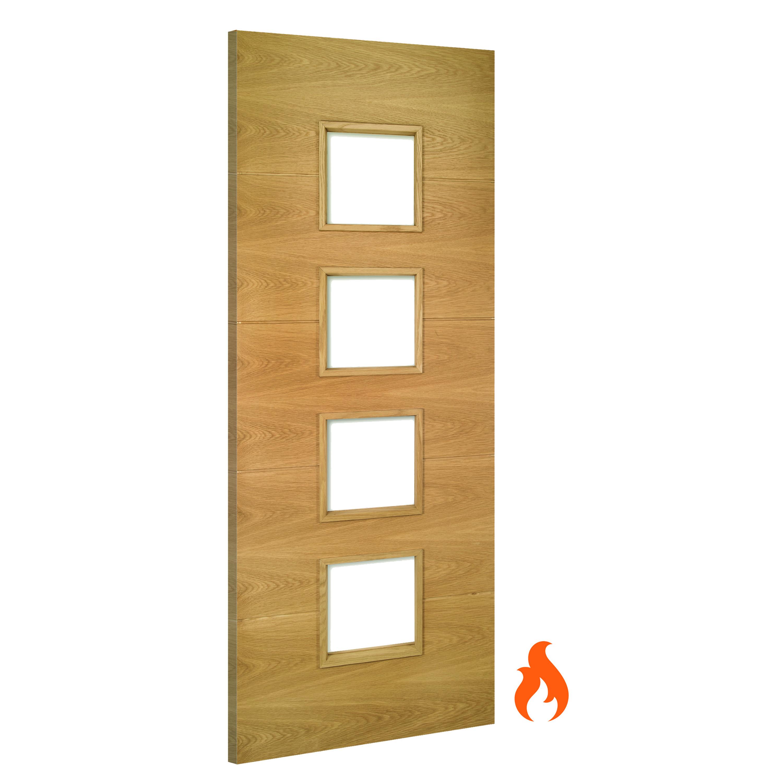 Augusta Glazed interior oak fire door