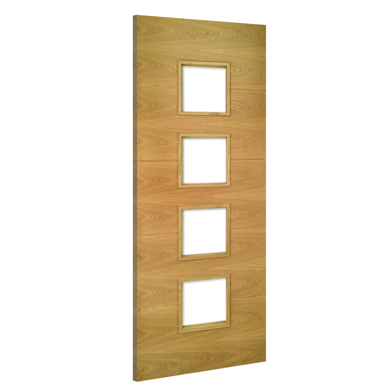 Augusta-Glazed interior oak door