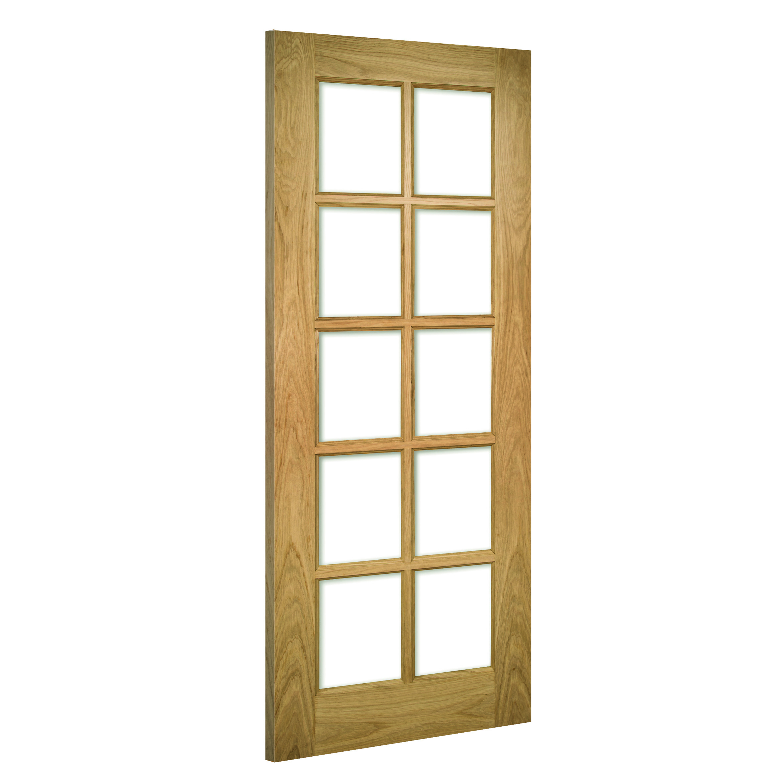 Bristol glazed interior oak door