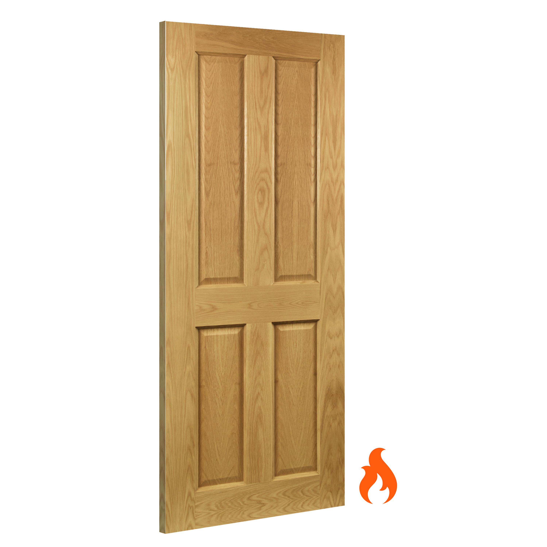 Bury interior oak fire door