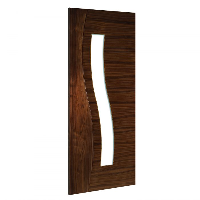 Cadiz-Glazed interior walnut door