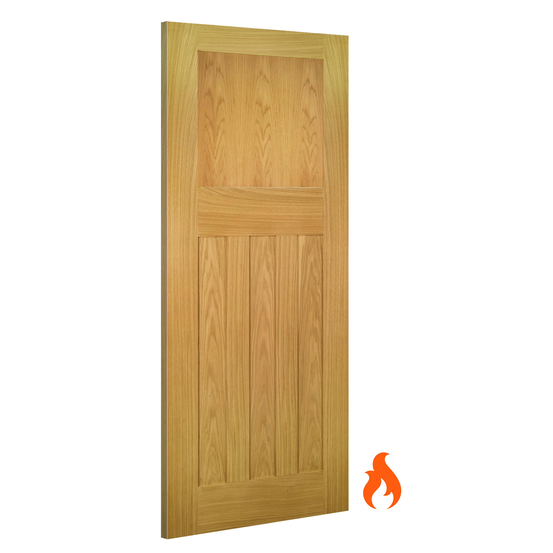 Cambridge interior oak fire door
