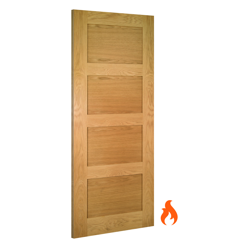 Coventry interior oak fire door