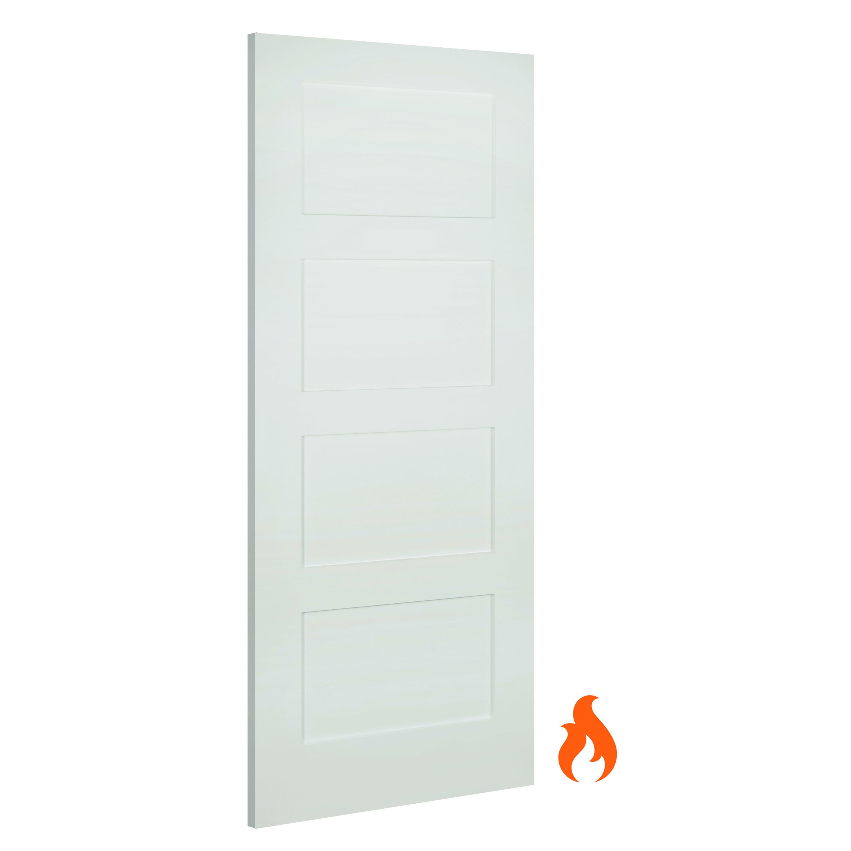 Coventry Interior White Primed Fire Door Deanta