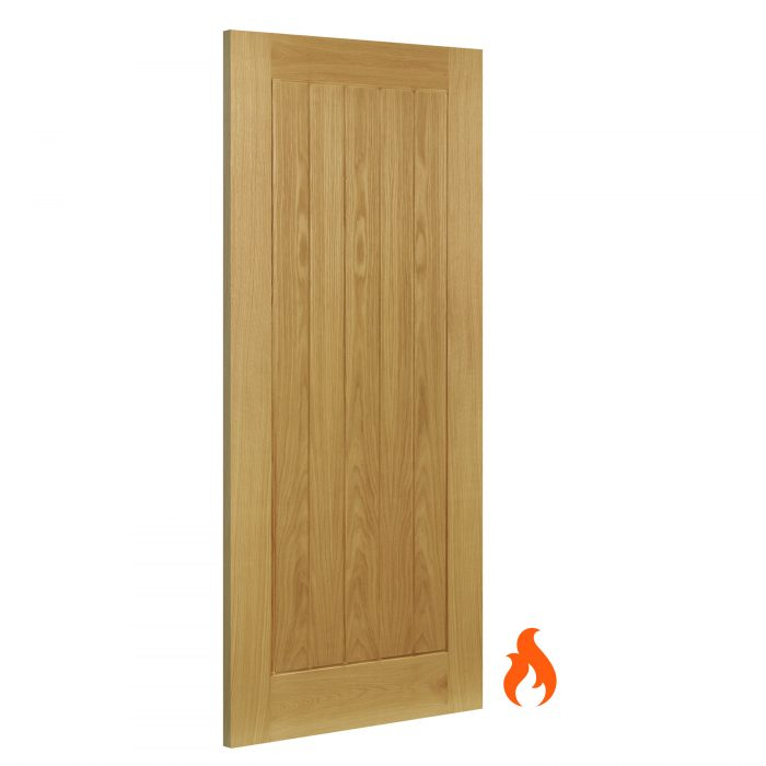 Ely interior oak fire door