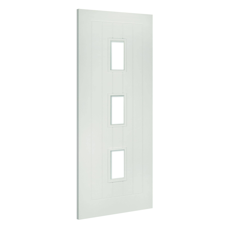 Ely-Glazed interior white door