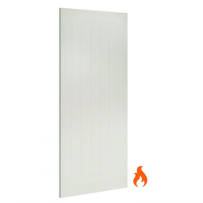 Ely White interior fire door