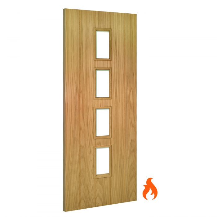 Galway Unglazed interior oak fire door