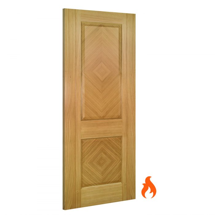 Kensington interior oak fire door