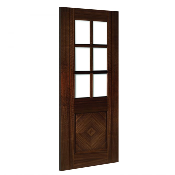 Kensington-Glazed interior walnut door