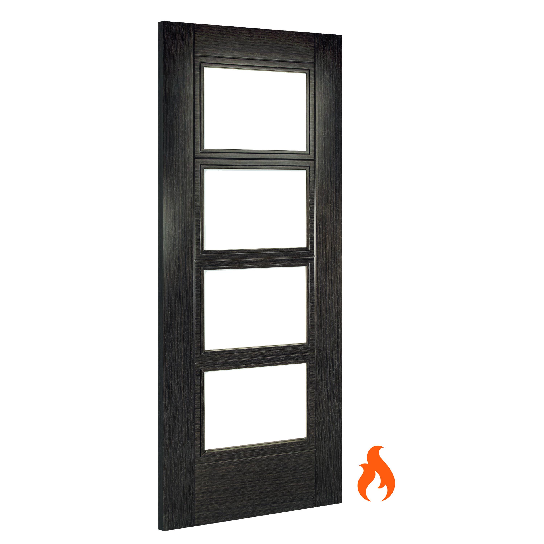 Montreal unglazed dark grey ash fire door