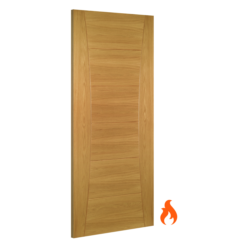 Pamplona Interior Oak Fire Door Deanta