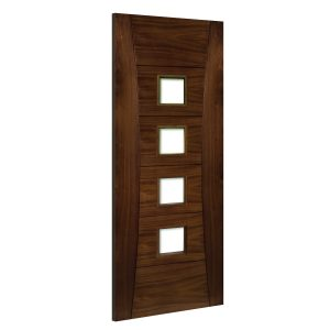 Pamplona-Glazed interior walnut door