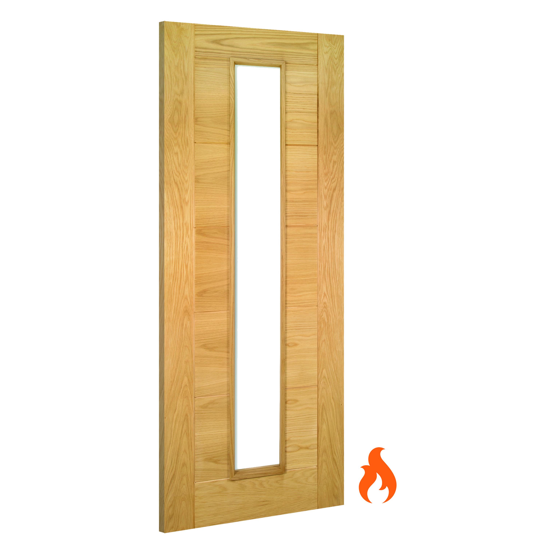 Seville Glazed Interior Oak Fire Door Deanta