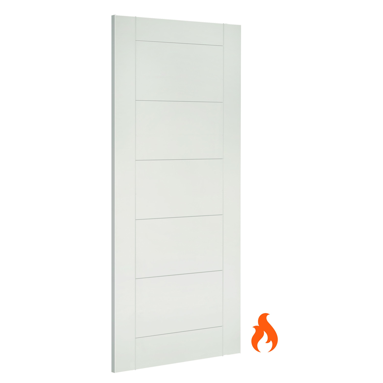 Seville Interior White Primed Fire Door Deanta