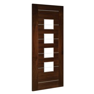 Valencia-Glazed interior walnut door