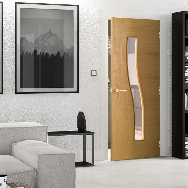 Cadiz Glazed Interior Oak Door Deanta