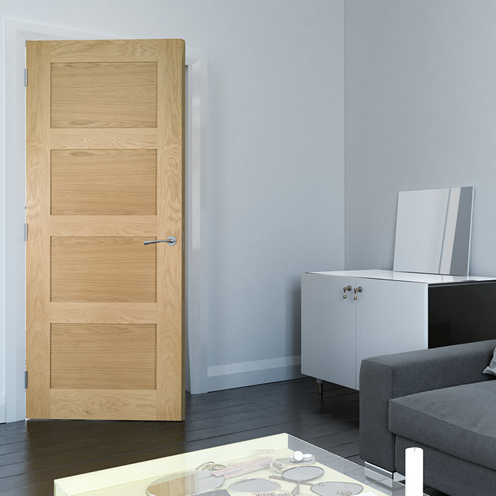 Coventry Prefinished Interior Oak Door Deanta