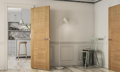 Oak Walnut White Primed Interior Doors Deanta