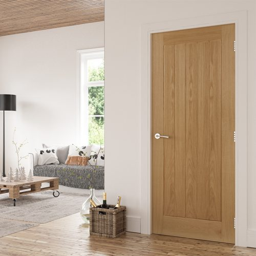 Oak Walnut And White Primed Interior Doors Deanta